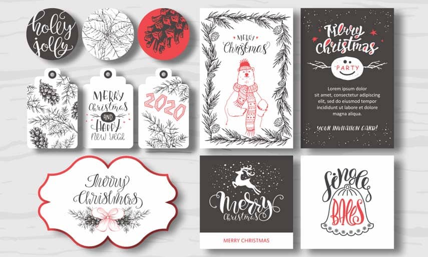 Design Christmas-themed graphics