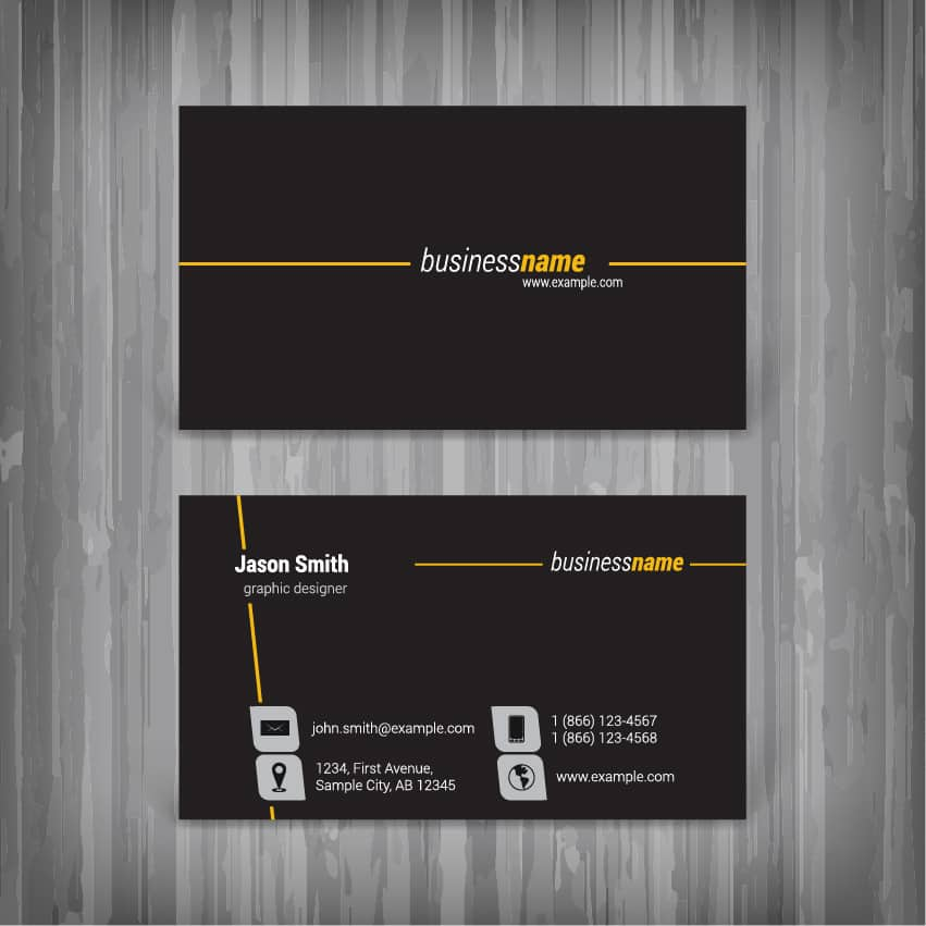Business card design the ultimate guide by coreldraw business card design example reheart Gallery