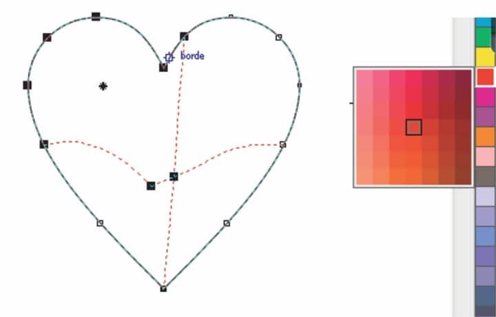 Nachdem Sie Einige Der Herzen Heller Und Farbiger Gestaltet Haben, Können  Sie Diese Auf Der Zeichenseite Der Valentinskarte Einfügen.