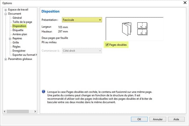 Comme Pour La Carte De Visite Slectionnez Outils Options Espace Travail Document Repres Prslections Dfini Par