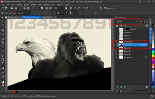 how to create double exposure effects using corel photo-paint x7