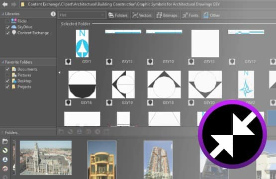Easy access to design assets