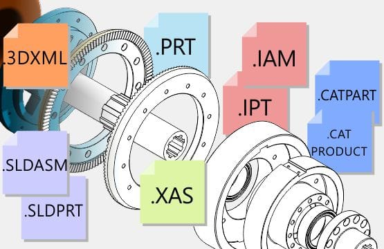 Expanded 3D CAD file formats