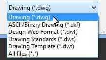 Native .DWG files